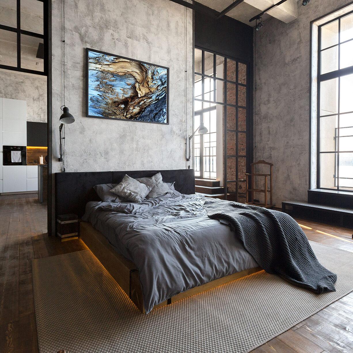 Camera da letto loft