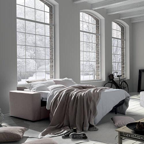Divano letto aperto